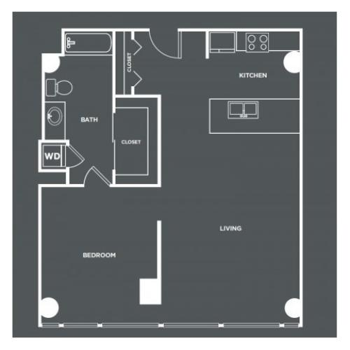 A18 | 1 bed 1 bath | from 847 square feet