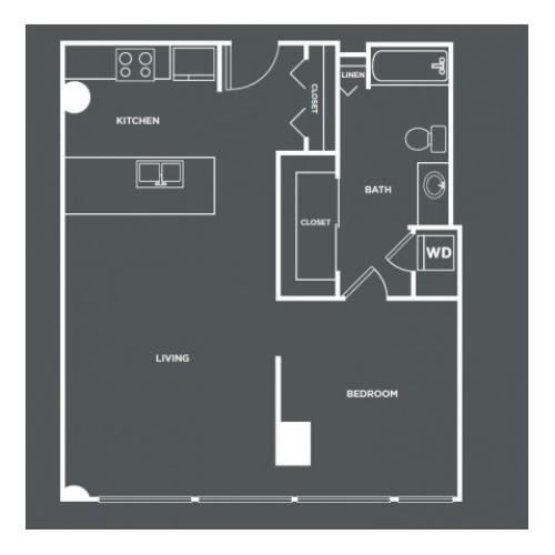 A19 | 1 bed 1 bath | from 778 square feet