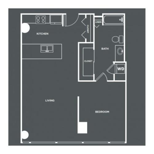 A21-R | 1 bed 1 bath | from 830 square feet