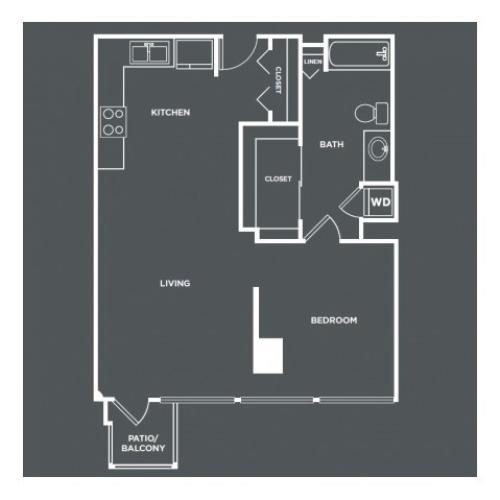 A3PH | 1 bed 1 bath | from 767 square feet