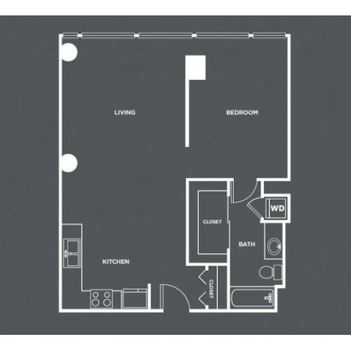 A3-R | 1 bed 1 bath | from 767 square feet