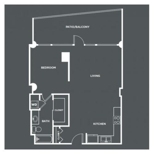 A4-R | 1 bed 1 bath | from 807 square feet