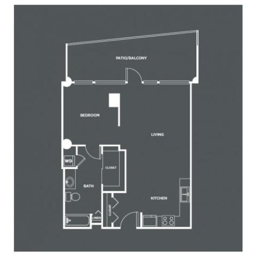 A5-R | 1 bed 1 bath | from 866 square feet