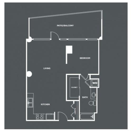 A7-R | 1 bed 1 bath | from 903 square feet