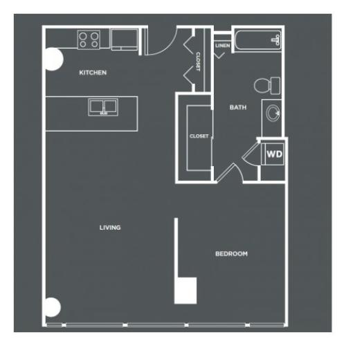 A8-R | 1 bed 1 bath | from 830 square feet