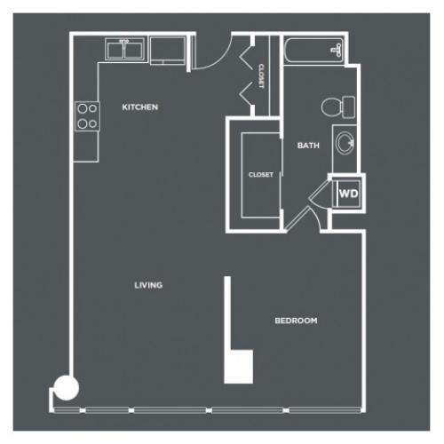 A9 | 1 bed 1 bath | from 812 square feet