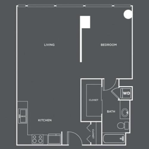 A20 | 1 bed 1 bath | from 778 square feet
