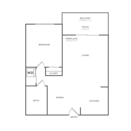 Plan B | 1 bed 1 bath | from 662 square feet