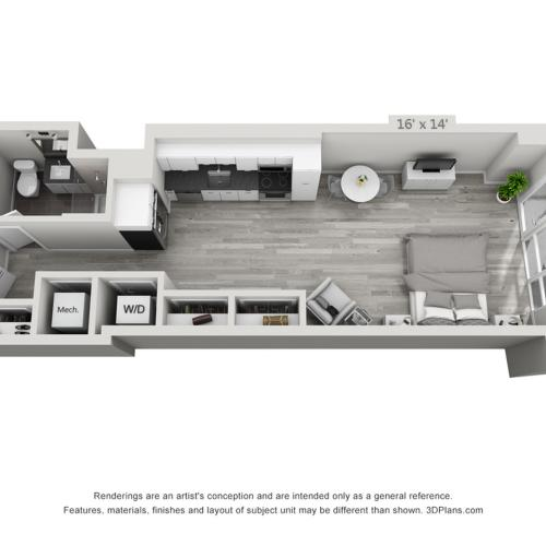 S4 | Studio1 bath | from 575 square feet