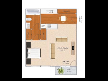 Blairsden | Studio1 bath | from 445 square feet