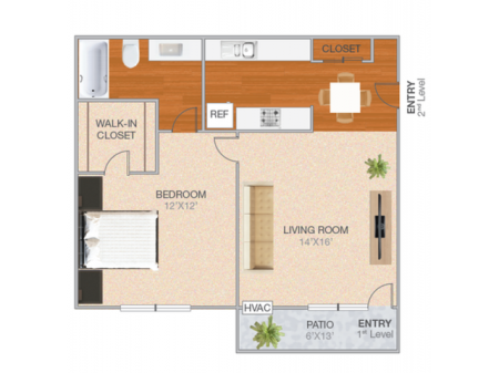 Shasta | 1 bed 1 bath | from 654 square feet