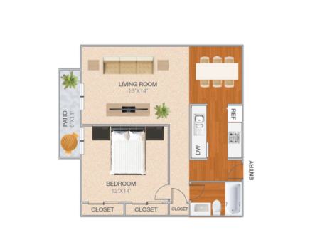 Cedarville | 1 bed 1 bath | from 763 square feet