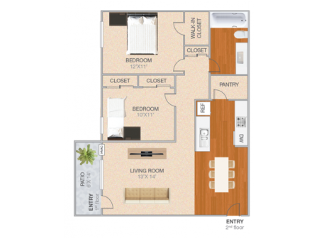 Lewiston | 2 bed 1 bath | from 902 square feet