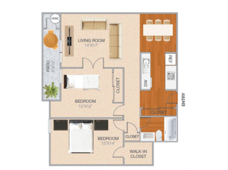 Grand Cassell | 2 bed 1 bath | from 1151 square feet