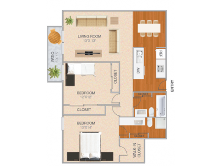 McCloud | 2 bed 2 bath | from 1081 square feet