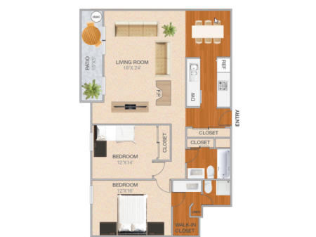 Almanor | 2 bed 2 bath | from 1318 square feet