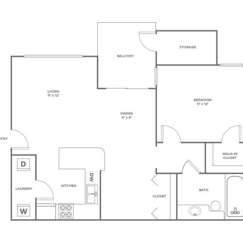 A1 | 1 bed 1 bath | from 800 square feet