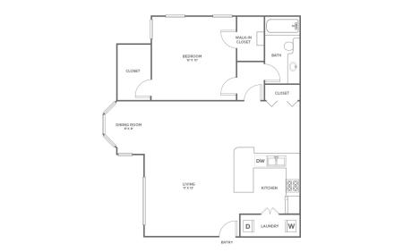 A2 | 1 bed 1 bath | from 870 square feet