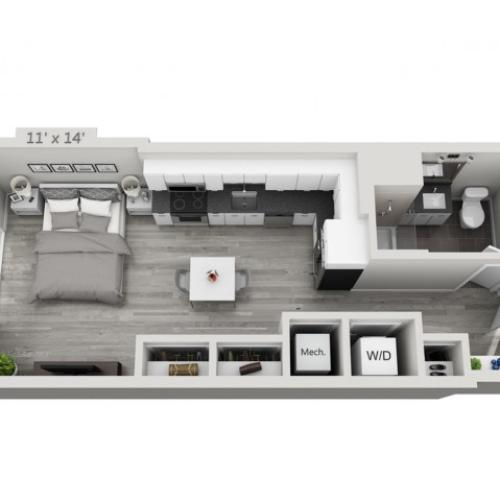 S2-Alt | Studio1 bath | from 503 square feet