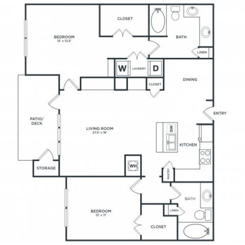 B2 | 2 bed 2 bath | from 1310 square feet