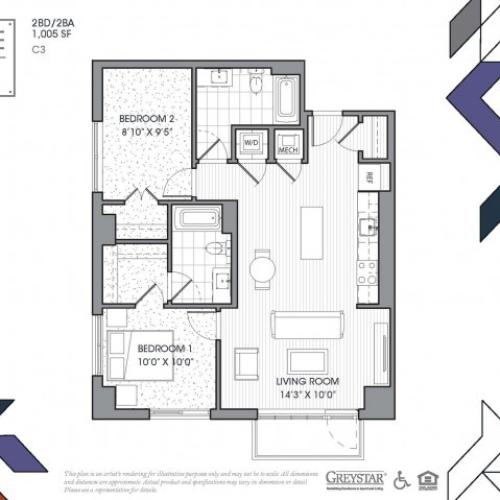 C3 - Two Bedroom