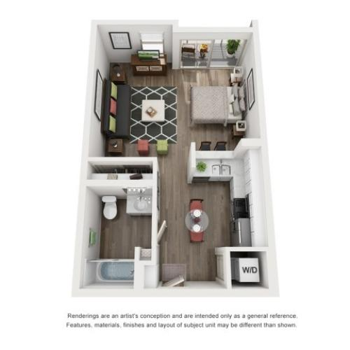 A2 | Studio1 bath | from 507 square feet