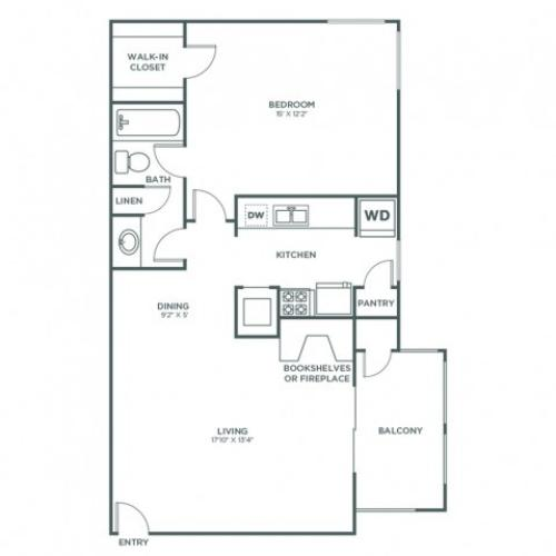 Aspen | 1 bed 1 bath | from 706 square feet