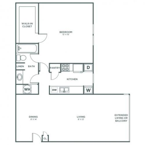 Magnolia | 1 bed 1 bath | from 853 square feet