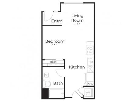 1B | 1 bed 1 bath | from 575 square feet