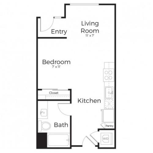 1B | Studio1 bath | from 575 square feet