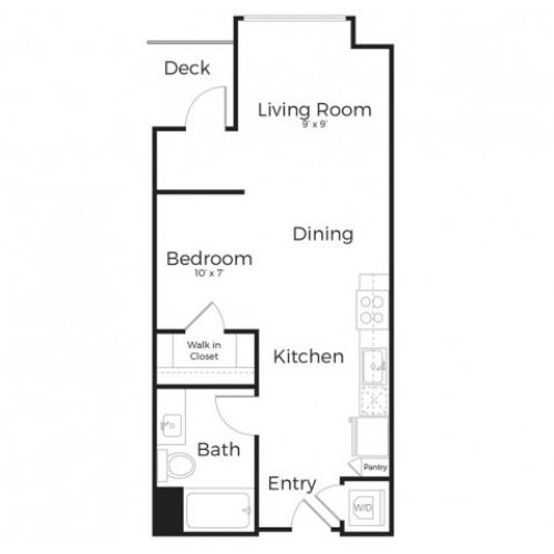 1E | Studio1 bath | from 631 square feet
