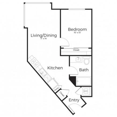 1G | 1 bed 1 bath | from 655 square feet