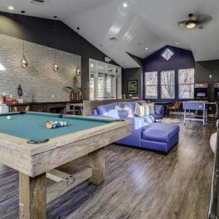 Pool Table and Media seating