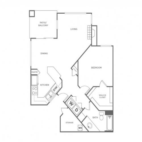 1B | 1 bed 1 bath | from 824 square feet