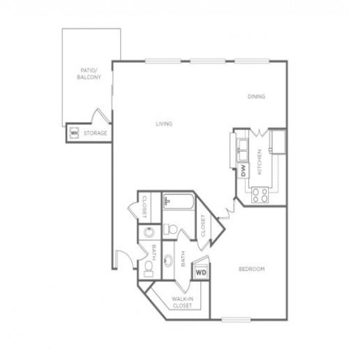 1C | 1 bed 2 bath | from 850 square feet