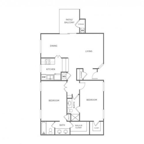 2A | 2 bed 2 bath | from 997 square feet