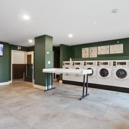 On-site laundry cafe