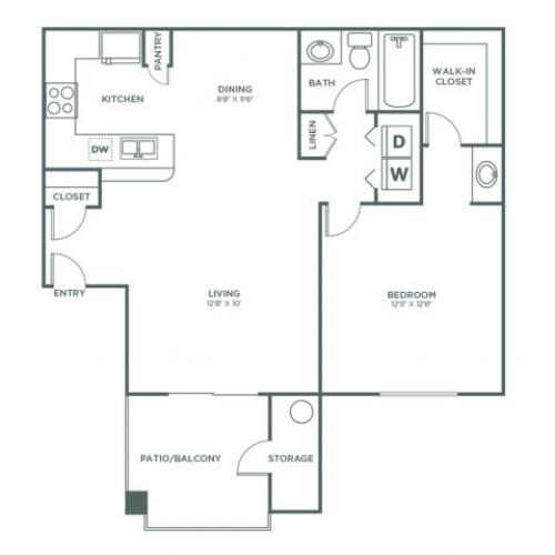 1 Bedroom 1 Bath | 1 bed 1 bath | from 750 square feet