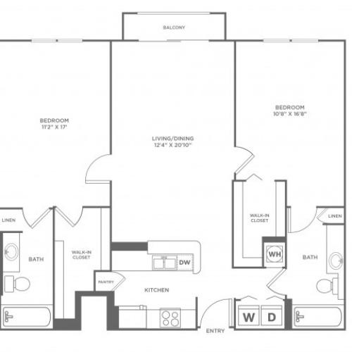 Star | 2 bed 2 bath | from 1253 square feet