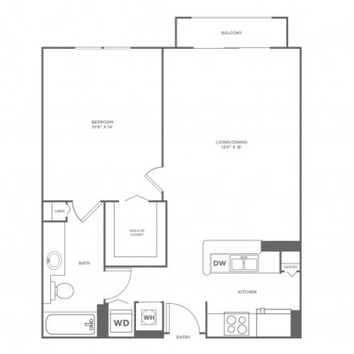 Sun - Diamond | 1 bed 1 bath | from 756 square feet