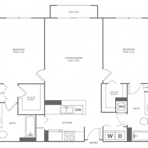 Moon - Platinum | 2 bed 2 bath | from 1120 square feet
