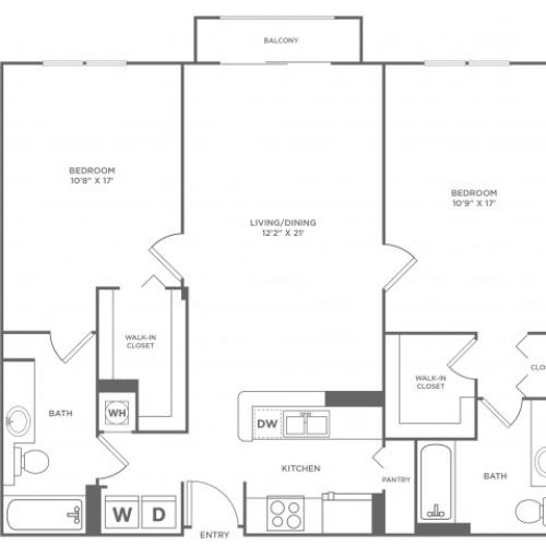 Sky - Diamond | 2 bed 2 bath | from 1239 square feet