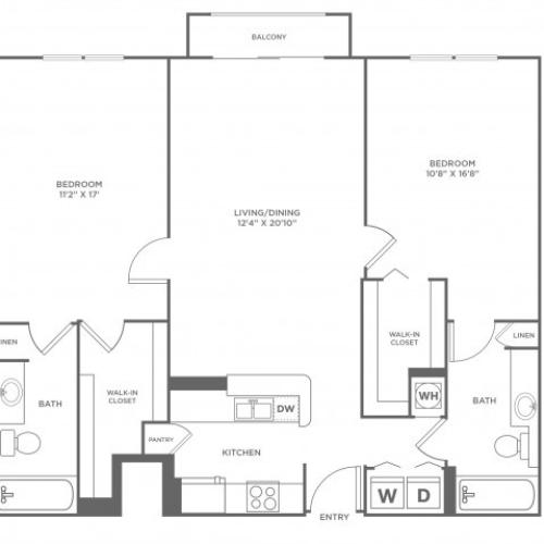 Star - Diamond | 2 bed 2 bath | from 1253 square feet
