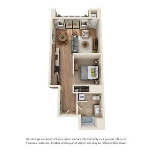 A3 | Studio1 bath | from 699 square feet