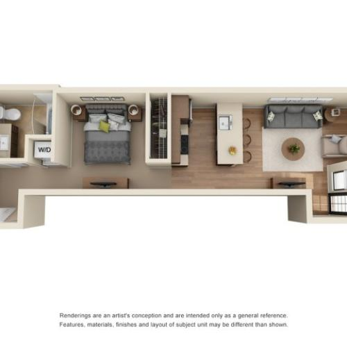 LW2R | Studio1 bath | from 569 square feet
