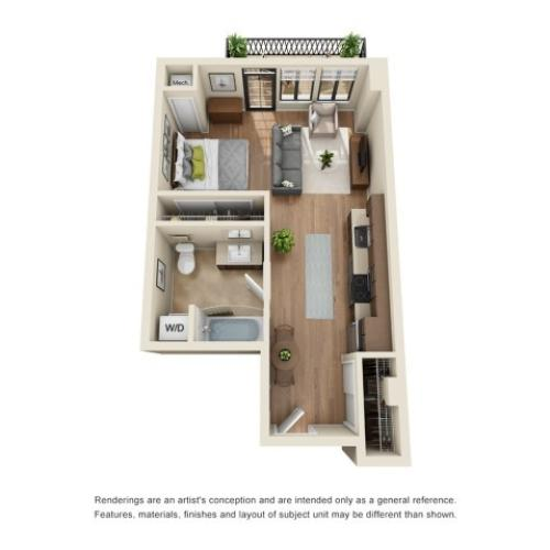 S1R | Studio1 bath | from 529 square feet