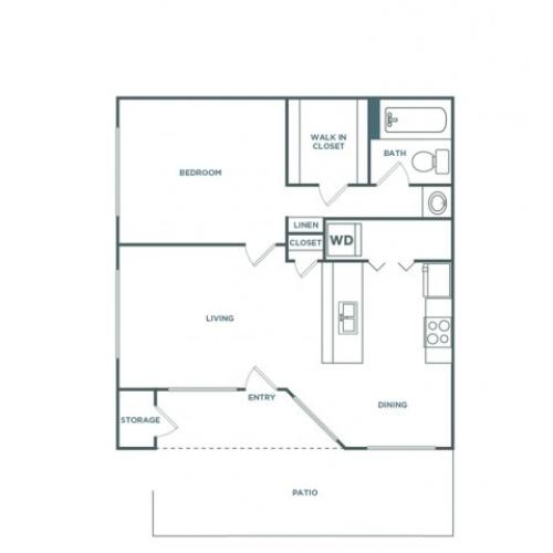 1x1 710RG | 1 bed 1 bath | from 710 square feet