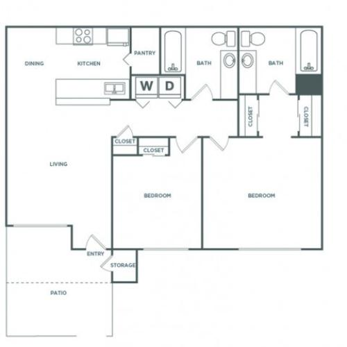 2x2 1060 | 2 bed 2 bath | from 1060 square feet