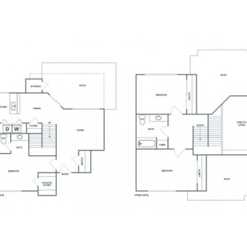 3x2 1230 | 3 bed 2 bath | from 1230 square feet