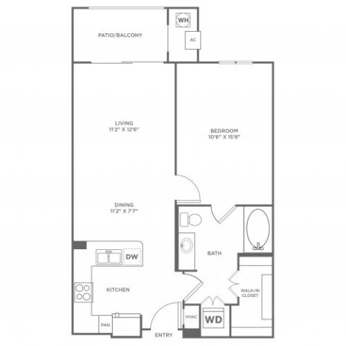 Infinity 2 with Sunroom | 1 bed 1 bath | from 775 square feet